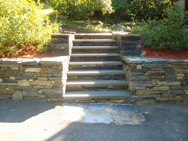 Natural Stone Patio Construction